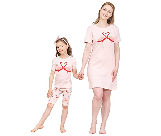 078ef2329b IF Family Big Girls Top and Shorts Pajama Set 100% Cotton Kids Nightwear 3t