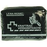 Leina Werke REF 17010 Leina Kraftrad-Verbandtasche, Inhalt DIN 13167, schwarz
