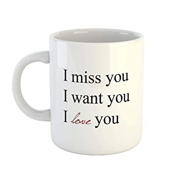 Buy Ikraft I Miss You I Want You I Love You Cute Quotes Printed
