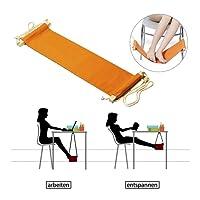 StillCool fußhängematte Fußstütze - Setzen Sie Ihren Fuß auf der Hängematte unter dem Schreibtisch Verstellbar bequem für Ihr Fuß büro (Orange)