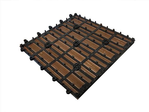 Sam® mattonelle in wpc ad incastro per terrazzo set di 22 pezzi