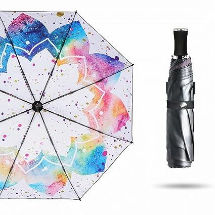 Paraguas Sombrilla Ultraligero para Mujeres Lluvia y sombrillas protección Solar protección UV QIQIDEDIAN