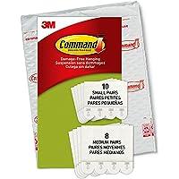 Command Kleine en middelgrote ophangstrips, verpakking met 4 x 2 fotohangers, maat S en M, wit, lijst en poster…