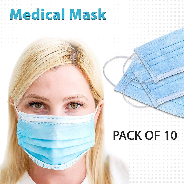 10 Piezas Mascarilla de carbón Activo de 2 Capas, máscara desechable para Orejas, máscara Antipolvo