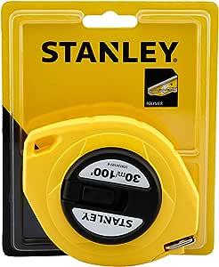 Stanley 30m/100' Steel Long Tape, Yellow - STHT34107-8