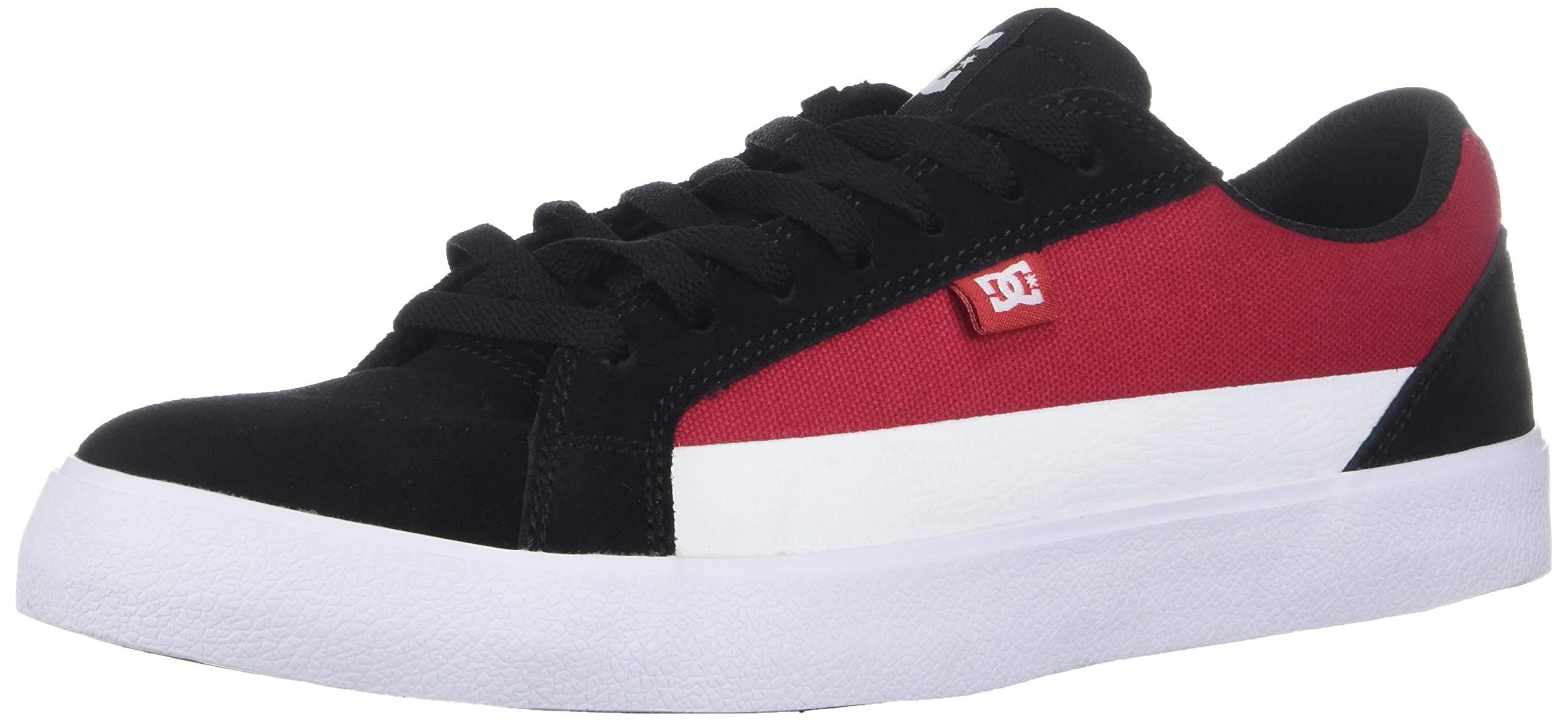 DC Men's LYNNFIELD Skate Shoe, Black/red/White, 7 D M US by DC