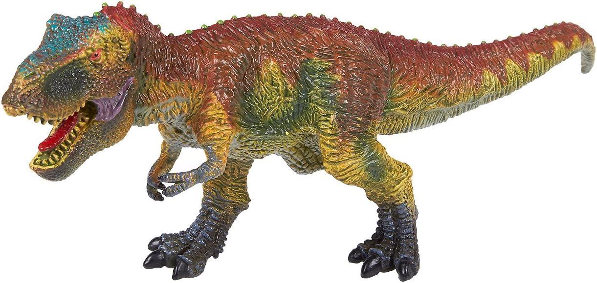 Figura de Dinosaurio Tyrannosaurus Rex Toy - Realista Plástico T-Rex Juguete Dinosaurio Figura para Niños, Fiestas Temáticas, Decoraciones, Marrón - 10,5 x 4,2 x 3,1 Pulgadas