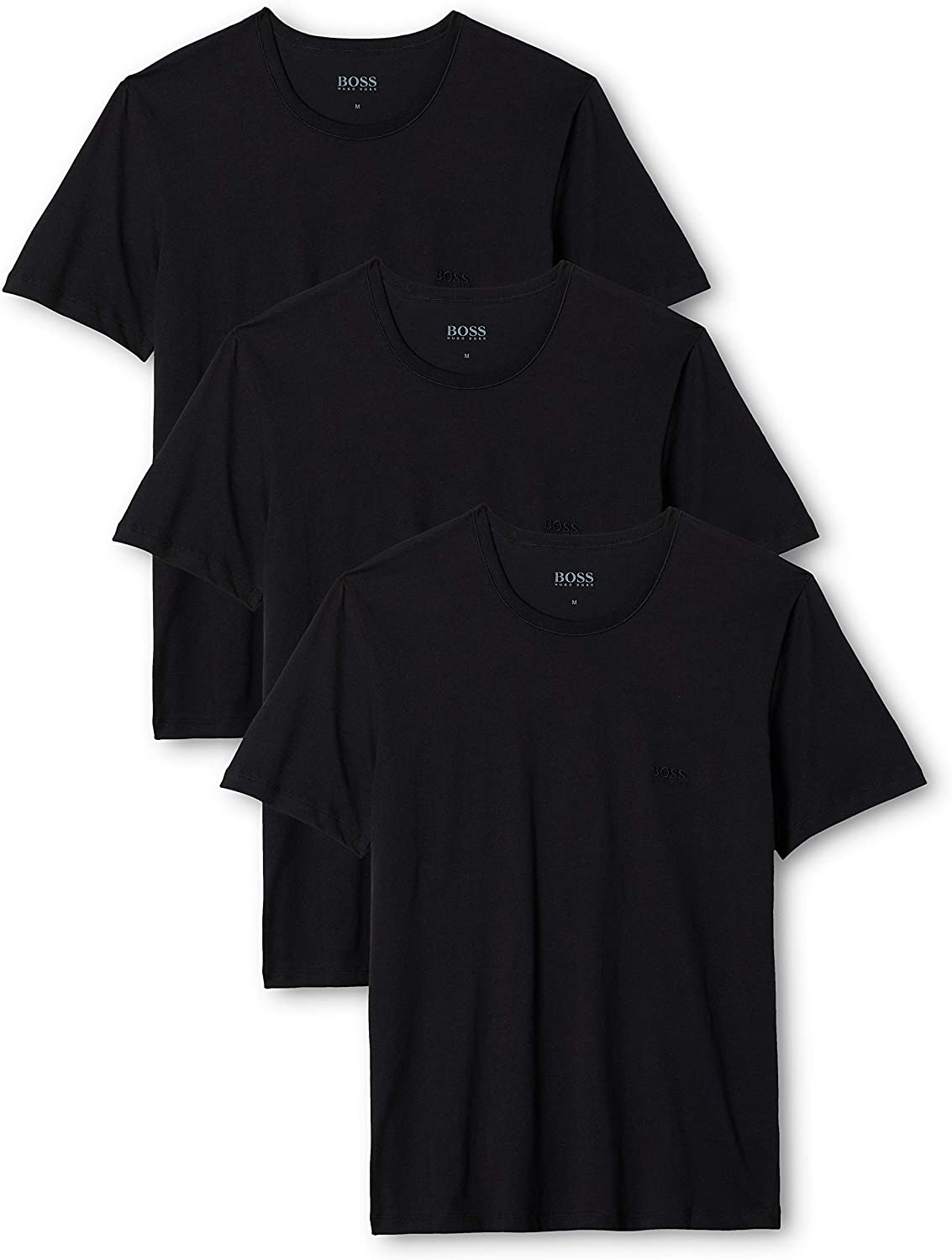TALLA M. BOSS T-Shirt RN 3p Co Camiseta para Hombre, pack de 3