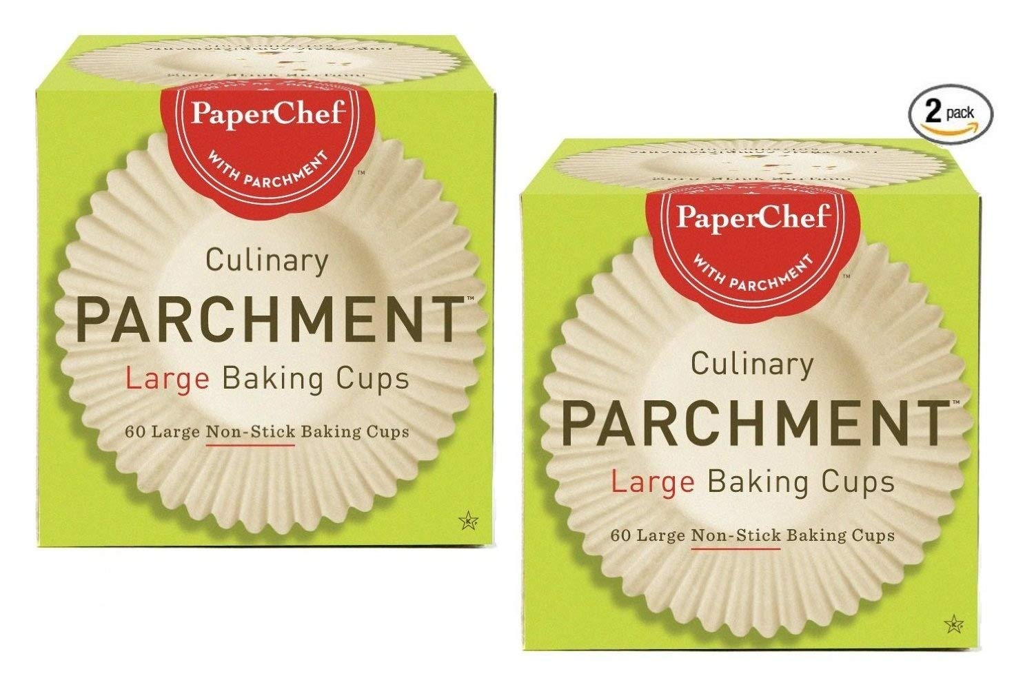 (2 Pack) Standard Paper Cupcake Liners / Baking Cups, 60-ct / Box by PaperChef Paper Chef 04990