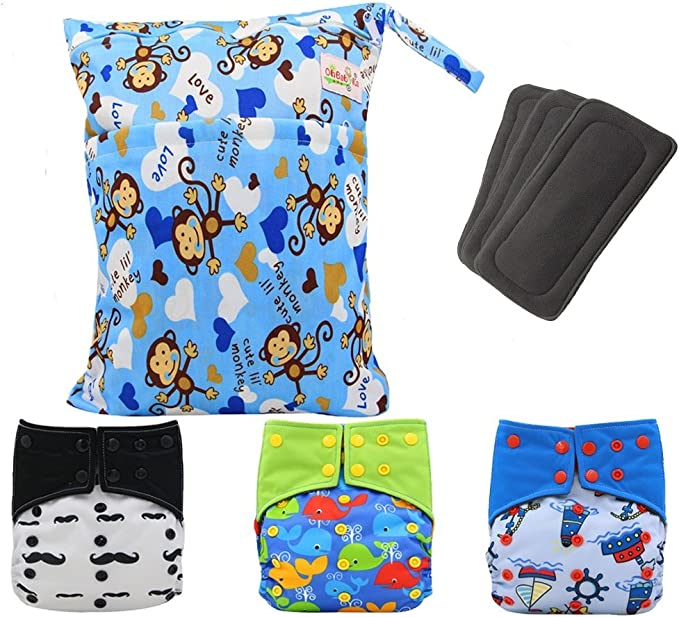 1PC New Washable Reusable Adult Cloth Diaper Breathable Incontinence Nappy Pants 3 Colors