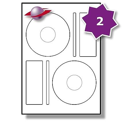 Pegatinas Label Planet® 2 por página/hoja, 50 hojas (100 ...