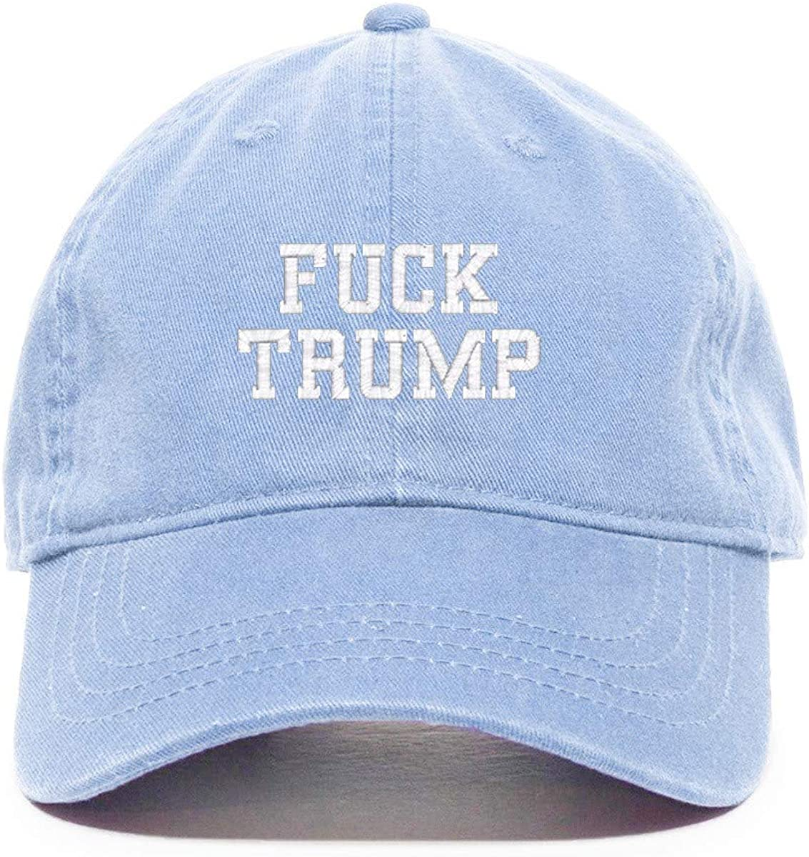 DSGN By DNA Fuck Trump MAGA Baseball Cap Embroidered Cotton Adjustable Dad Hat
