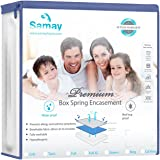SAMAY - Zippered Waterproof & Bed Bug Proof Box Spring Encasement Cover - Full Size 55 x 75 Inches - All sizes available