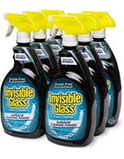 Invisible Glass 92196-6PK 32 oz. - Cleaner and Window Spray for Home and Auto for a Streak-Free Shine. Film-Free Glass Cleaner Safe for Tined and Non-Tinted Windows. Windshield Film Remover, Set of 6