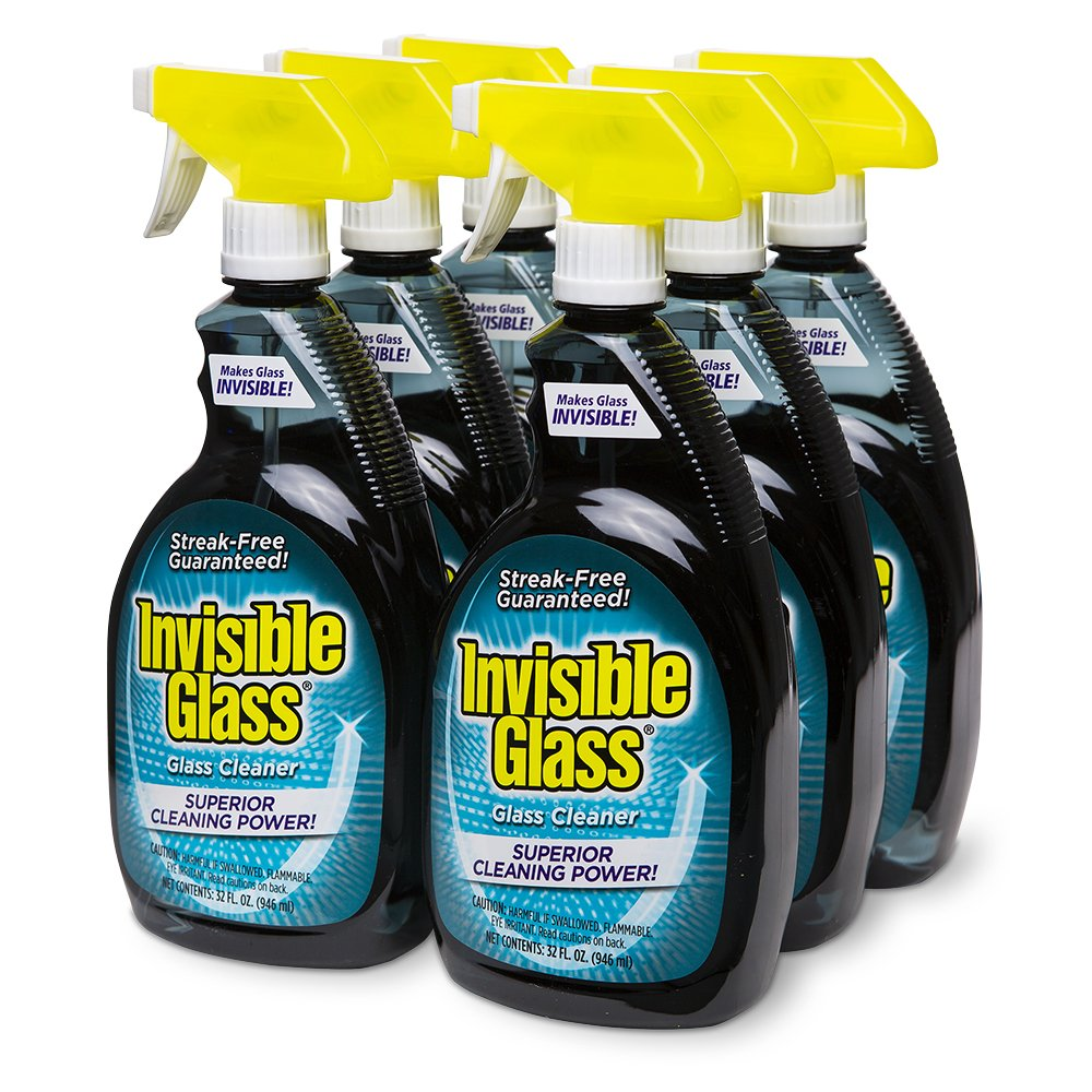 Invisible Glass 92196-6PK 32 oz. - Cleaner and Window Spray for Home and Auto for a Streak-Free Shine. Film-Free Glass Cleaner Safe for Tined and Non-Tinted Windows. Windshield Film Remover, Set of 6 by Invisible Glass (Image #1)