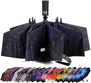 Umbrella Windproof Travel Umbrella Compact Folding Reverse Umbrella,LANBRELLA