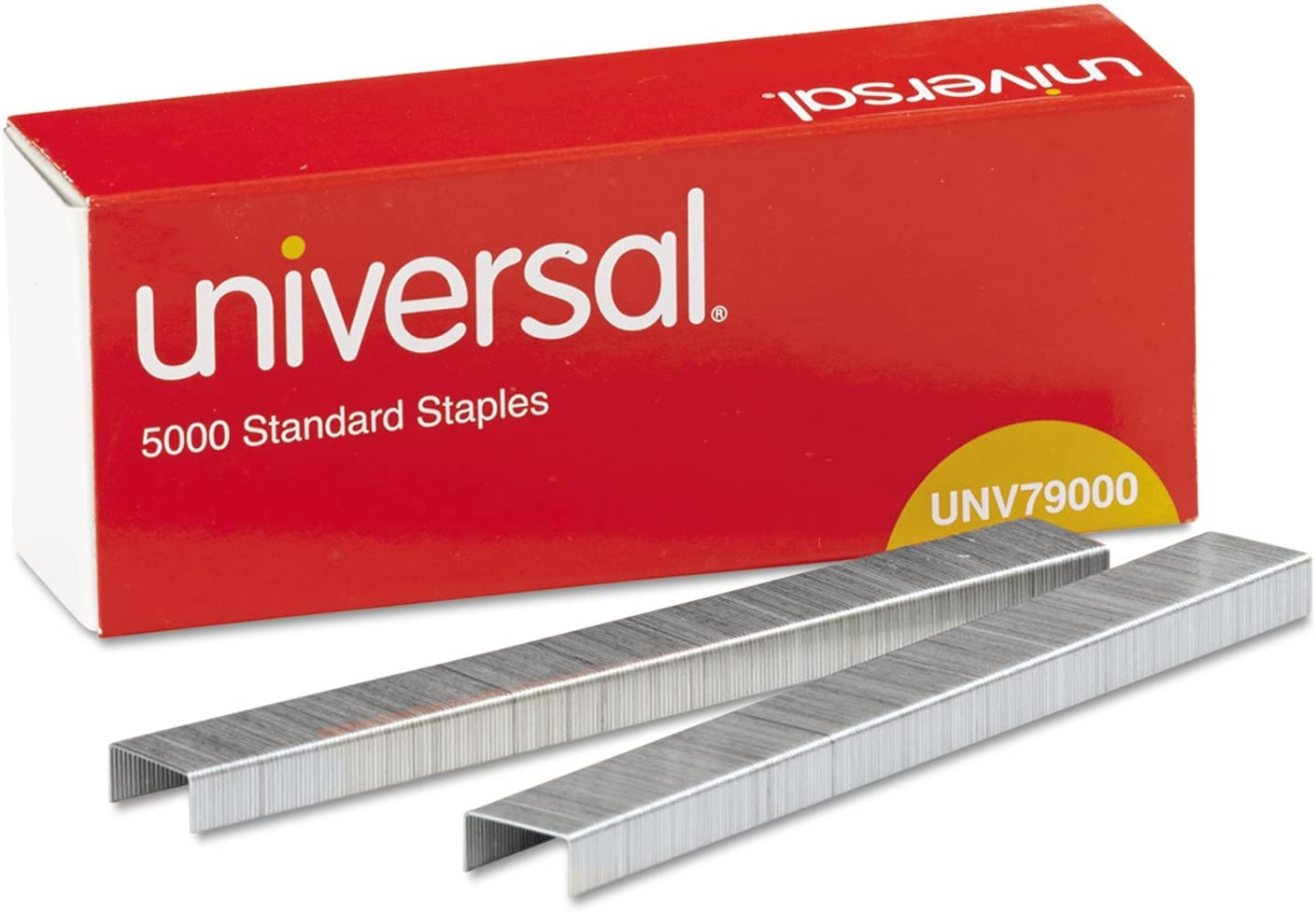 UNIVERSAL Office Products 79000VP Standard Chisel Point 210 Strip Count Staples, 5,000/Box, 5 Boxes per Pack