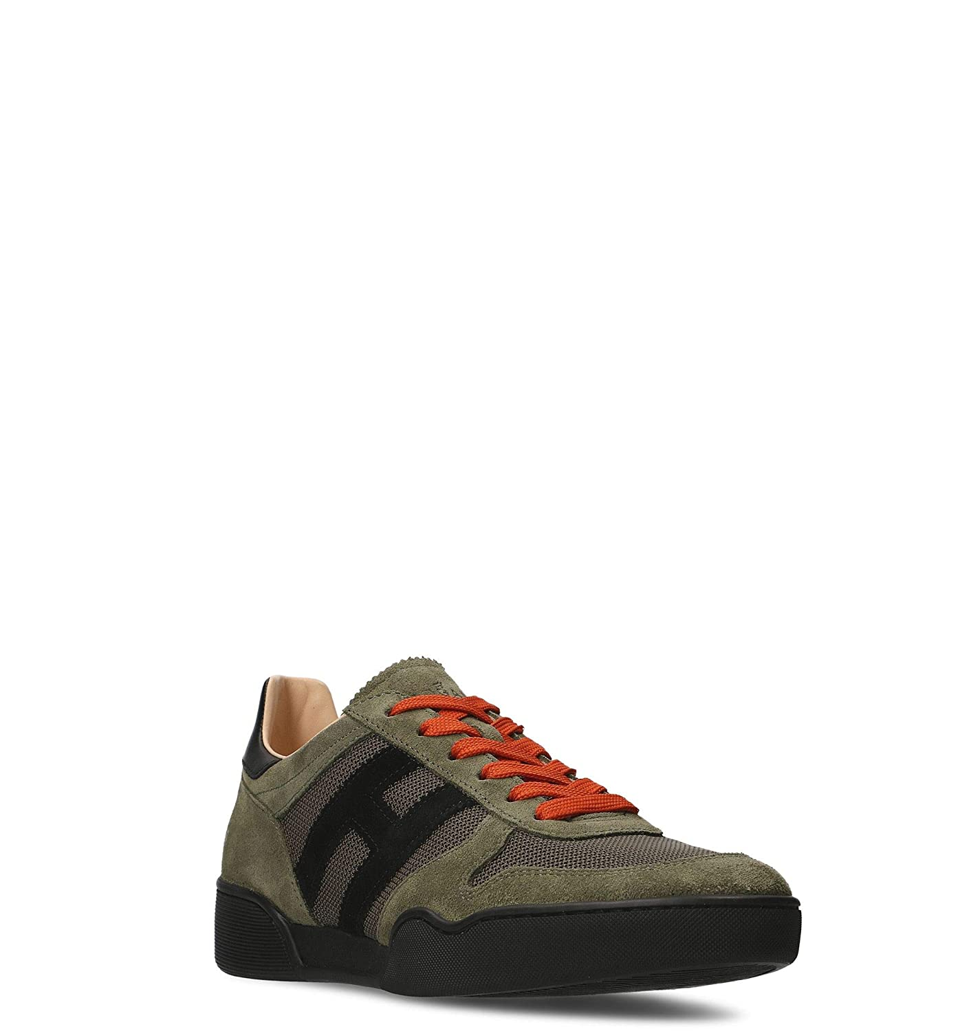 a20f0b199dfd7 Amazon.com | HOGAN Men's HXM3570AC40IPJ558L Green Suede Sneakers | Fashion  Sneakers