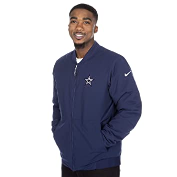 new product 18948 dff5f Amazon.com : Dallas Cowboys NFL Mens Nike Bomber Jacket ...
