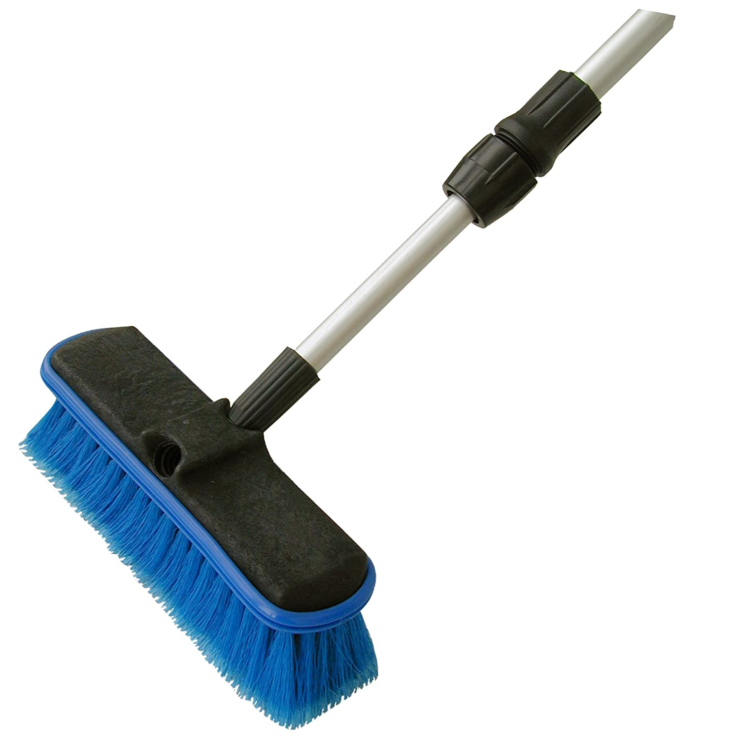 Detailer's Choice 4B369 Flow-Thru Vehicle Wash Brush with 60-Inch Telescoping Handle - 1-Each Detailer' s Choice