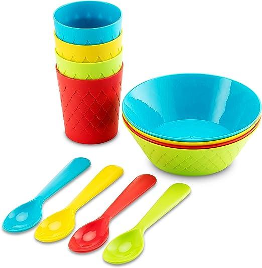 Plaskidy - Juego de cuencos y tazas de plástico para niños ...