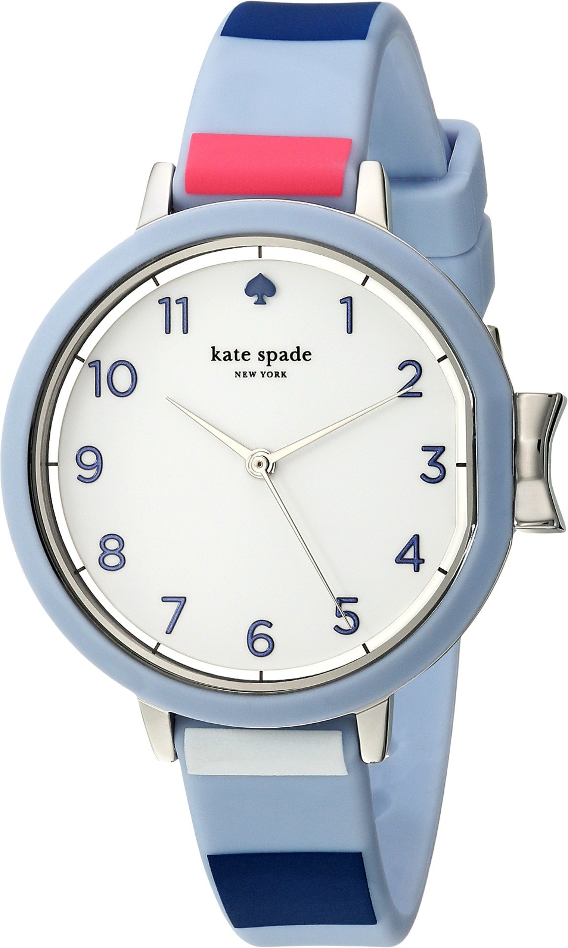 Kate Spade New York Women's 'Park Row' Quartz Stainless Steel and Silicone Casual Watch, Color:Blue (Model: KSW1419)