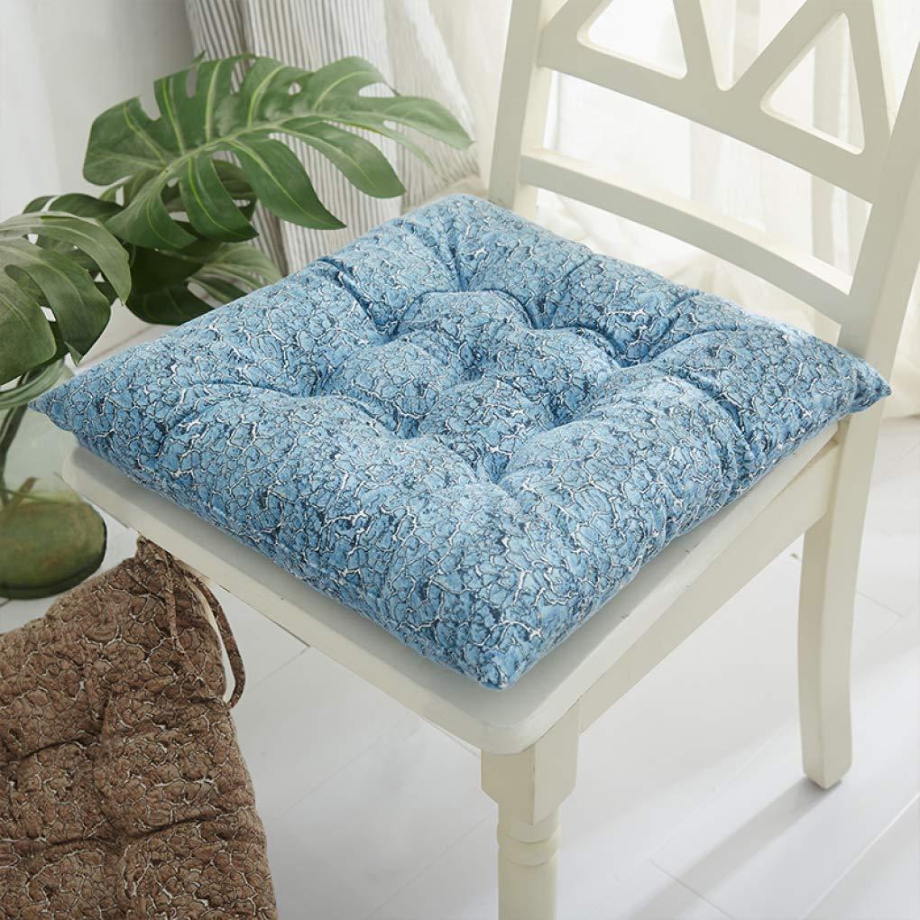 Cojines de silla silla de para sillas de comedor, cojín de silla de oficina de engrosamiento de invierno, alfombrillas de coche para todo climaCojín de silla calienteCojín transpirable con corbatas,C_4545cm 4e5c4e