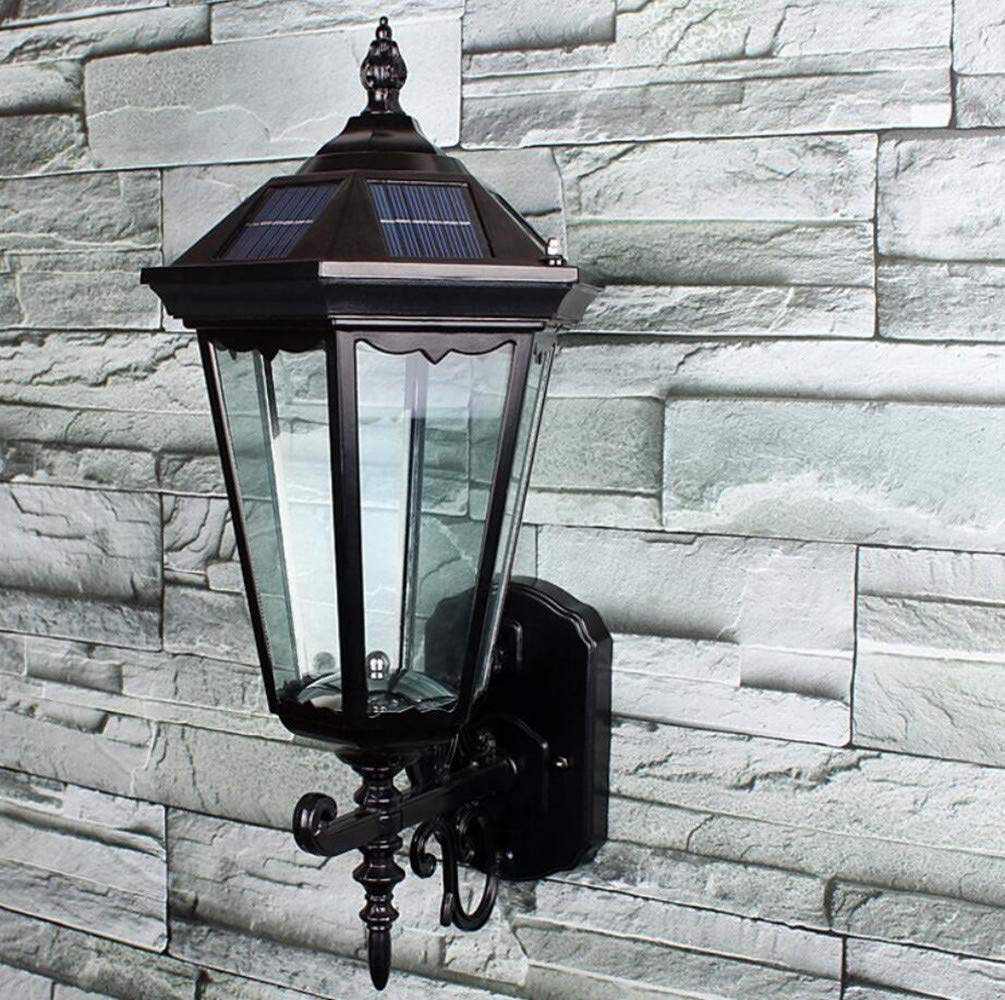 Ehime Lampade da parete Lampade solari anti-corrosione e anticorrosivo lampade da parete per esterni da giardino