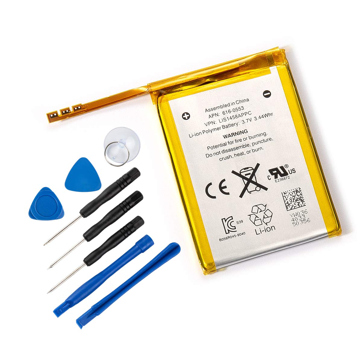 Tanaka Replacement Battery Compatible iPod Touch 4 4th Generation with Installation Tools 930mAh 3.7V 3.44Whr