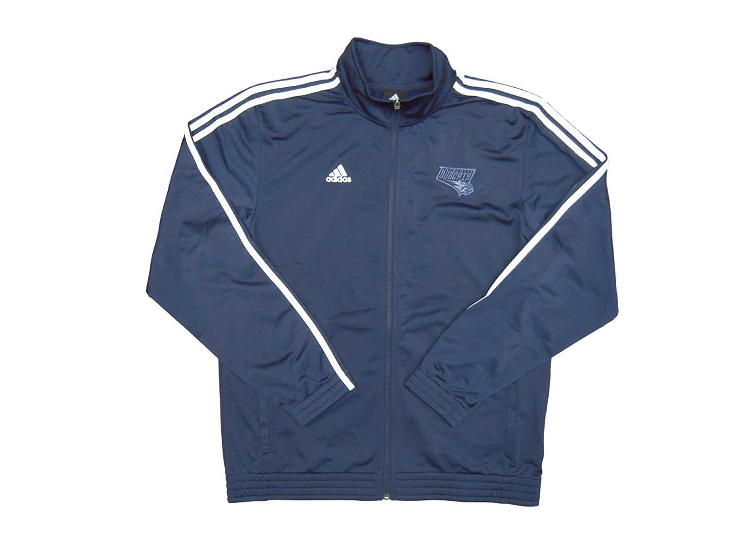 NBA Charlotte Bobcats Team Issued adidas Travel Jacket Navy - Size Medium