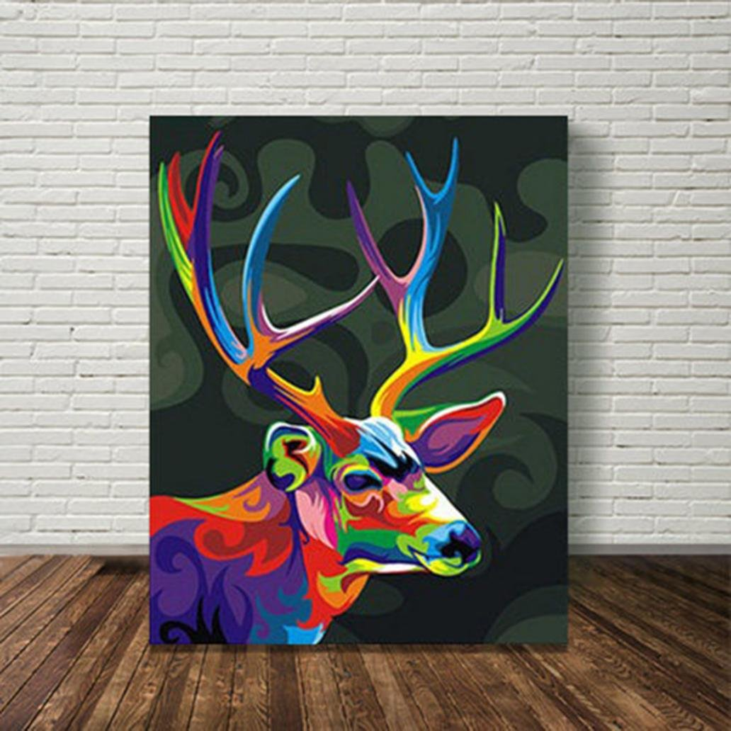 Fine Diy Oil Painting By Numbers Paint By Number Kits Animal Download Free Architecture Designs Scobabritishbridgeorg