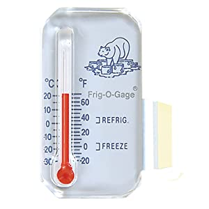 Sun Company Frig-o-gage - Cooler-Refrigerator-Freezer Thermometer | Refrigerate and Freeze Zones | For RVs and Motor Homes