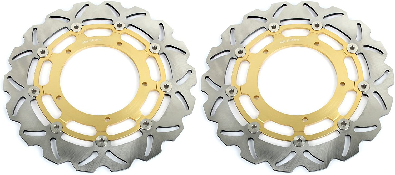 TARAZON Front Brake Rotor Disc /& Pads Kit for Yamaha YZF R1 2004 2005 /& 2015 Gold Set