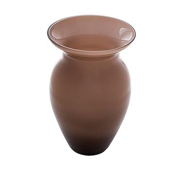 EterniaHome Bottle Neck Big Glass Vase (17 cm, Coffee, Set of 2) Vases at amazon