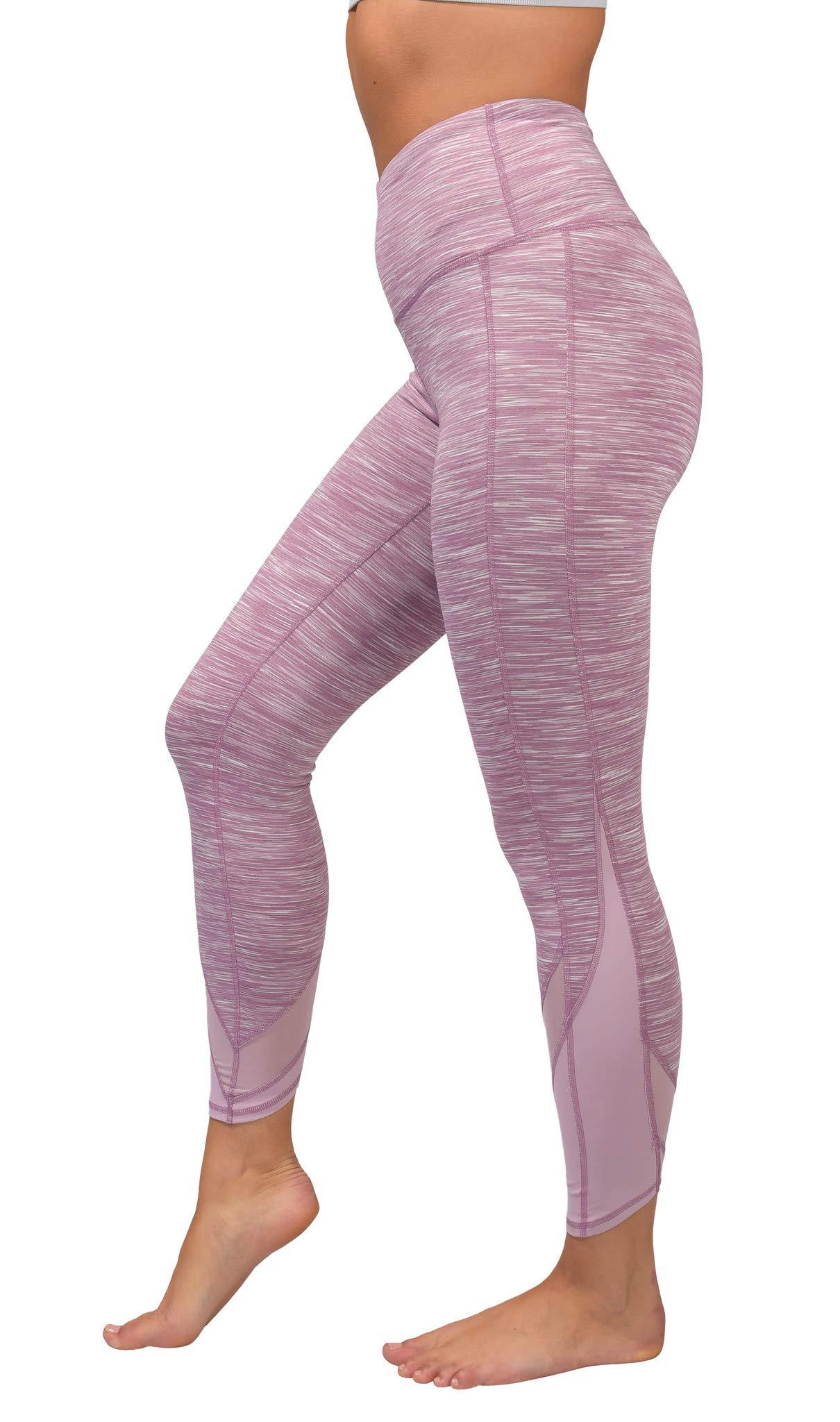 90 Degree By Reflex Women's Power Flex Yoga Pants - Dawn Pink Space Dye - Small by 90 Degree By Reflex