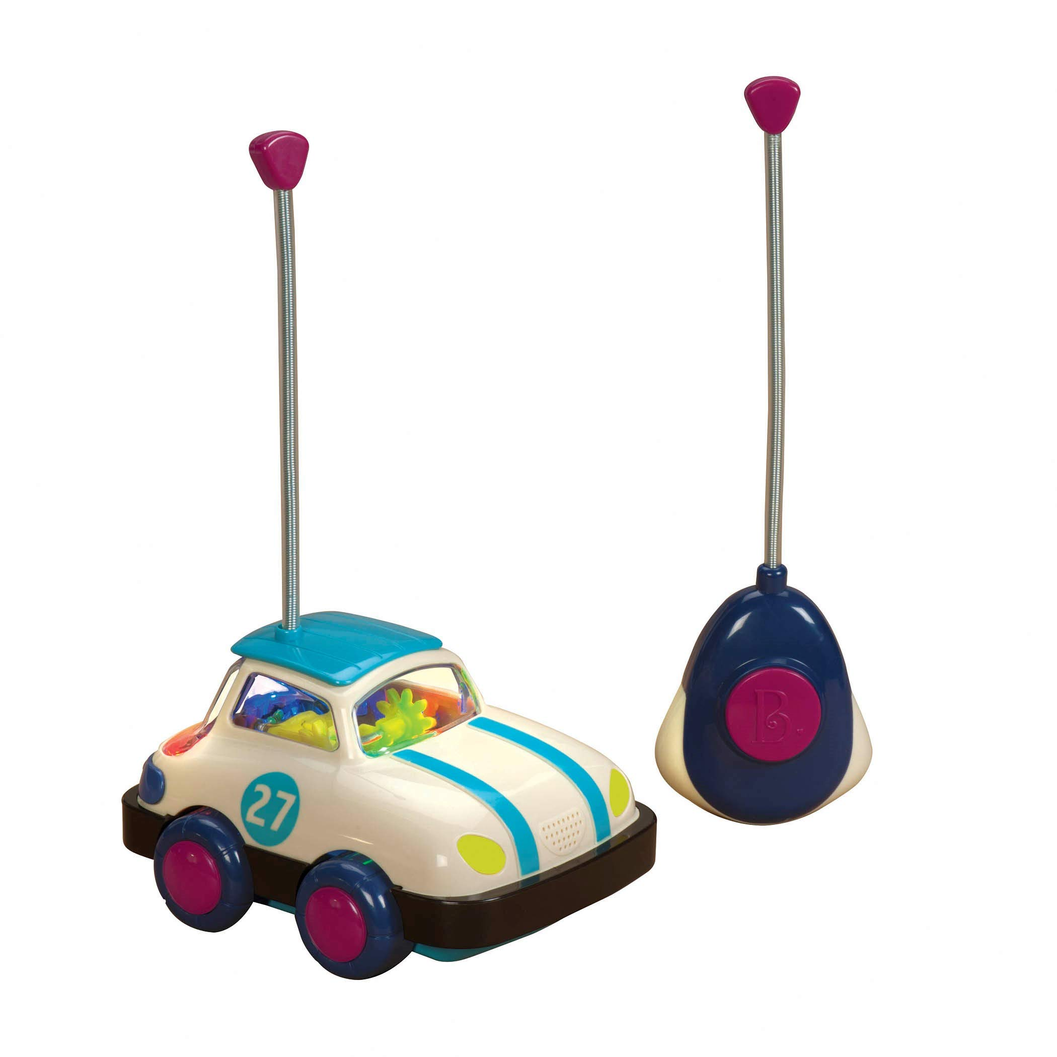 B. toys – Rally Ripster – One Button Remote Control Light-Up Toy Car for Babies & Toddlers 1 Year +