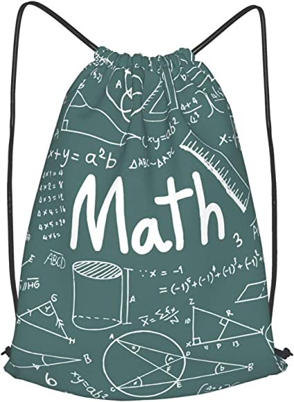 Drawstring Backpack Math Equation Bags