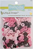 Babyville Boutique Snaps, Mod Girl Flowers, 60 Count