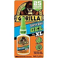 Gorilla Super Glue Gel XL, 25 gram, Clear, (Pack of 1)