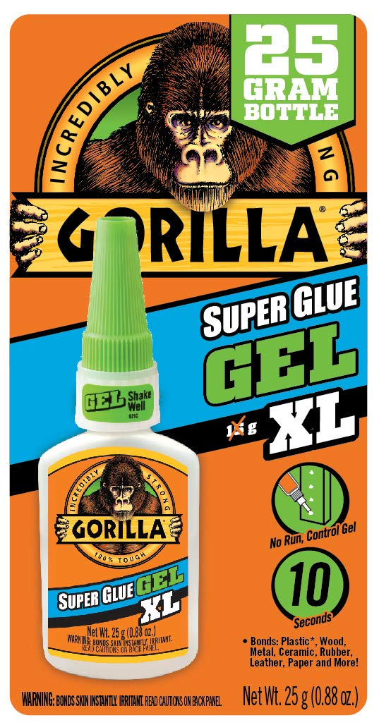 Gorilla Super Glue Gel XL, 25 gram, Clear, (Pack of 1)