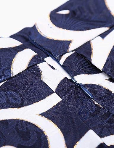 Pleated Midi Skirt printed zipper