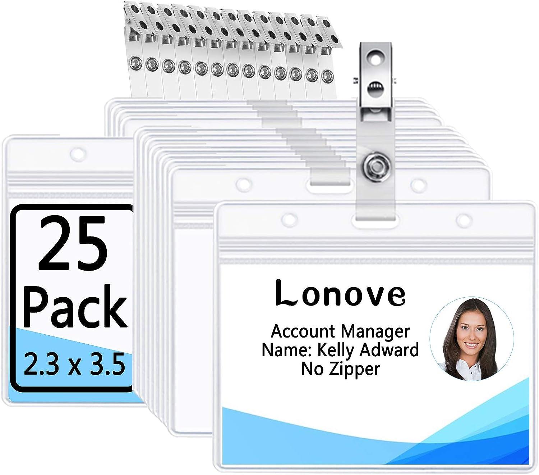 DYZD Safety Pin Badge Holders Hard Plastic ID Card Holders Waterproof ID Holder Pin ID Badge Card Holder Black,6 PCS