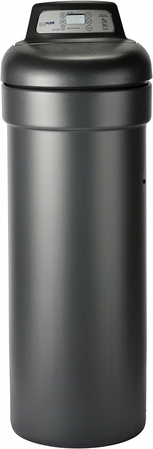 Ecopure EPHS007 EPHS Conditioner-Water Softener & Filter System in One-Built in USA-NSF Certified-Best Value-Demand Initiated Regeneration, Dark Gray