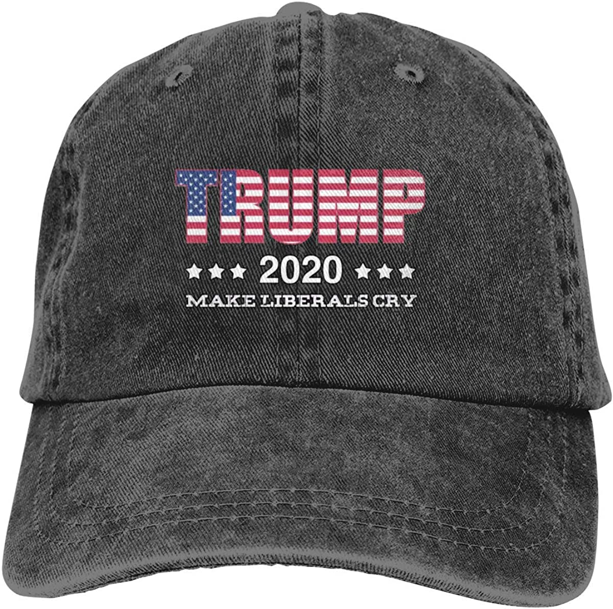 Trump 2020 The Sequel Make Liberals Cry Again Baseball Cap Cowboy Caps - Adjustable Fashion Hip Hop Jeans Hat for Men Women