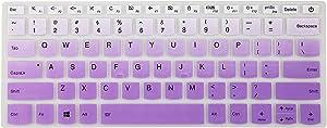 "Keyboard Cover for Lenovo Flex 14 14"" 丨Flex 15 15.6"" 丨Yoga C940 C930 920 13.9"" 丨Yoga 720 720S 730 13.3"" 丨Yoga 730 15.6"" 丨ideapad 720s 13"" 14"" Laptop - Gradual Purple"
