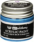 Prima Marketing 963231 Finnabair Art Alchemy Acrylic Paint, 1.7 fl. oz., Metallique Rich Turquoise