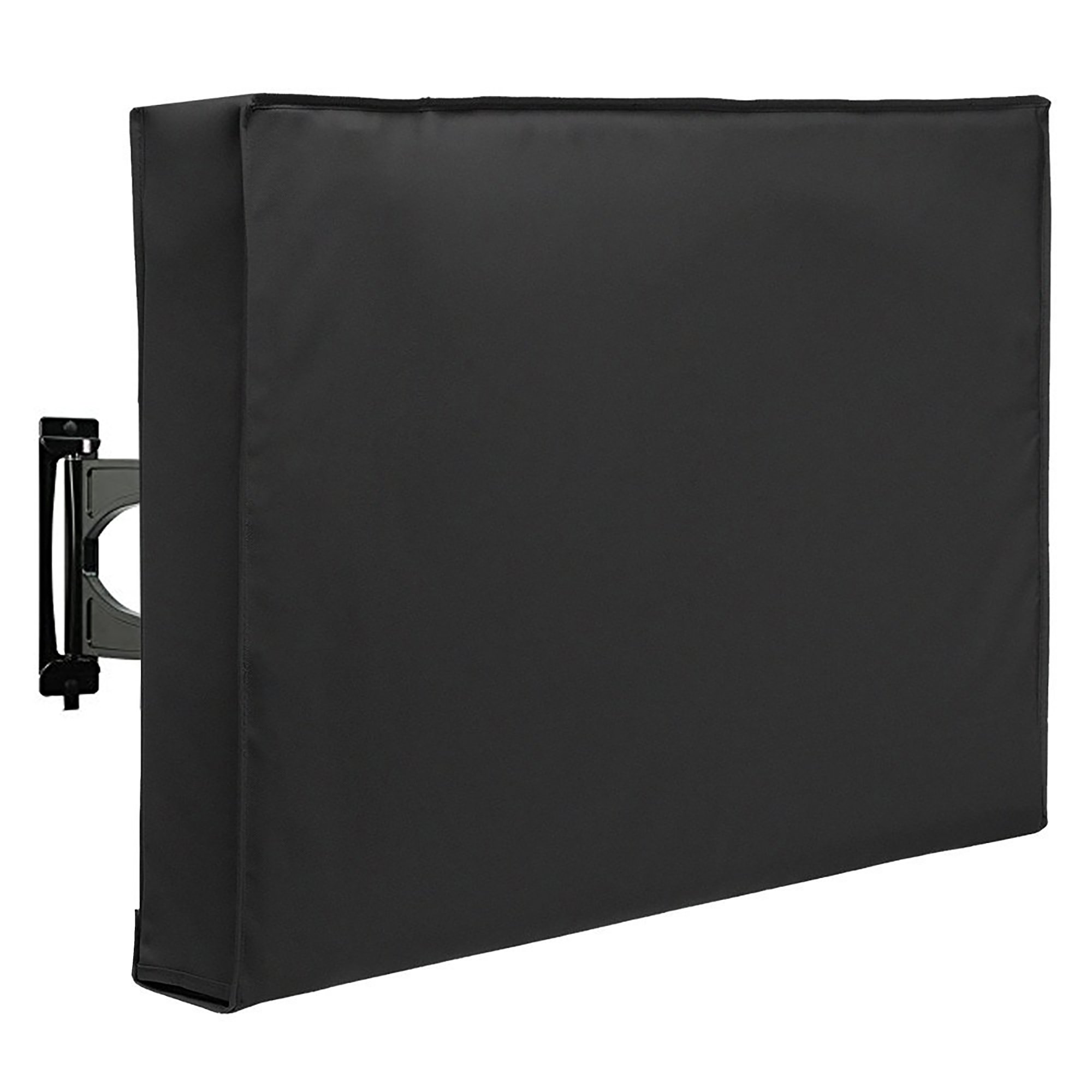 SunPatio Outdoor TV Cover 30''-32'', TV Screen Protector, TV Enclosure Offers 360° Coverage with Bottom Cover, Waterproof and Dust-proof, Fade and UV Resistant, Black