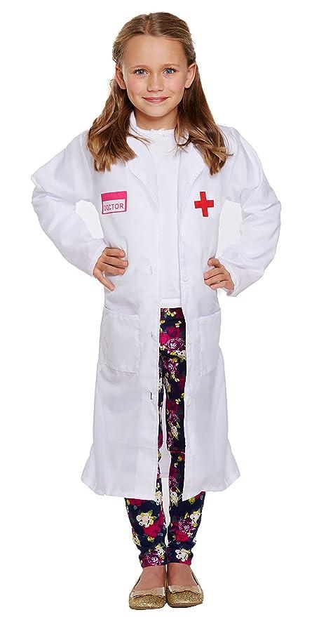 infantil Doctor NIÑA ABRIGO Disfraz - Multicolor, 4-6 years ...