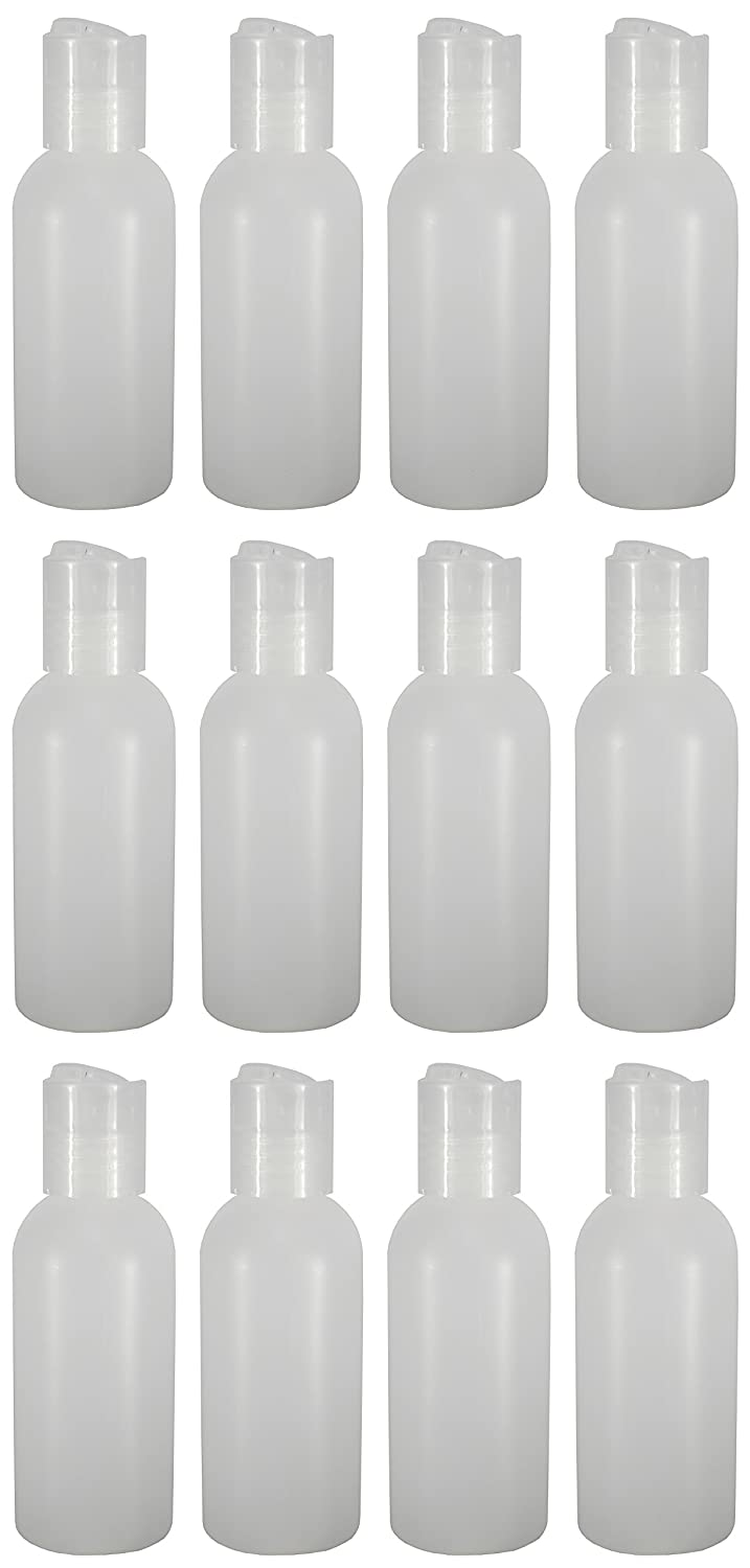 12 - Natural 2-ounce Bottles (Disc Cap)