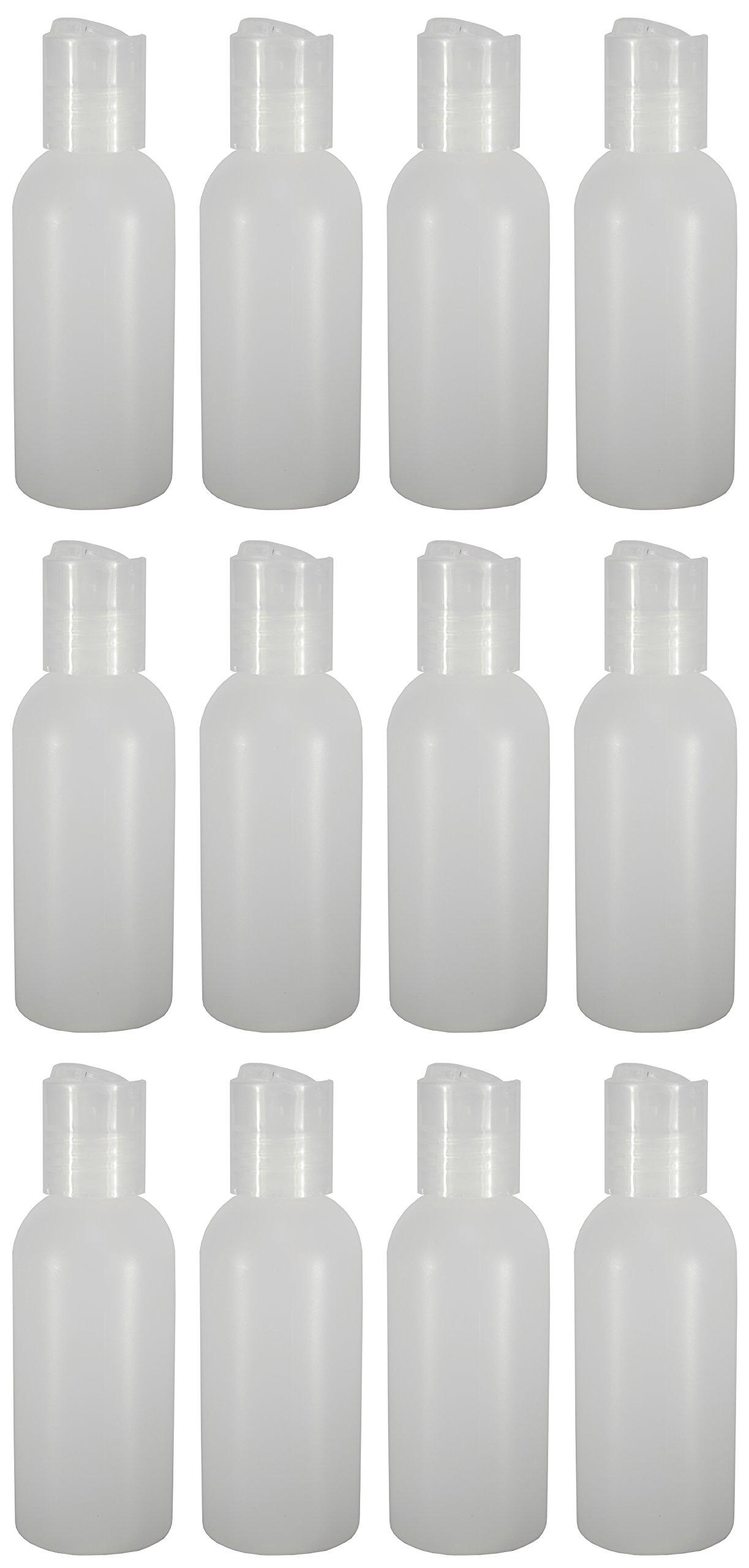 12 - Natural 2-ounce Bottles (Disc Cap)
